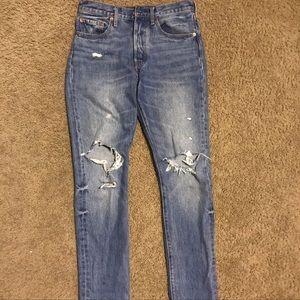 High waist  Levi's 501 Skinny 27